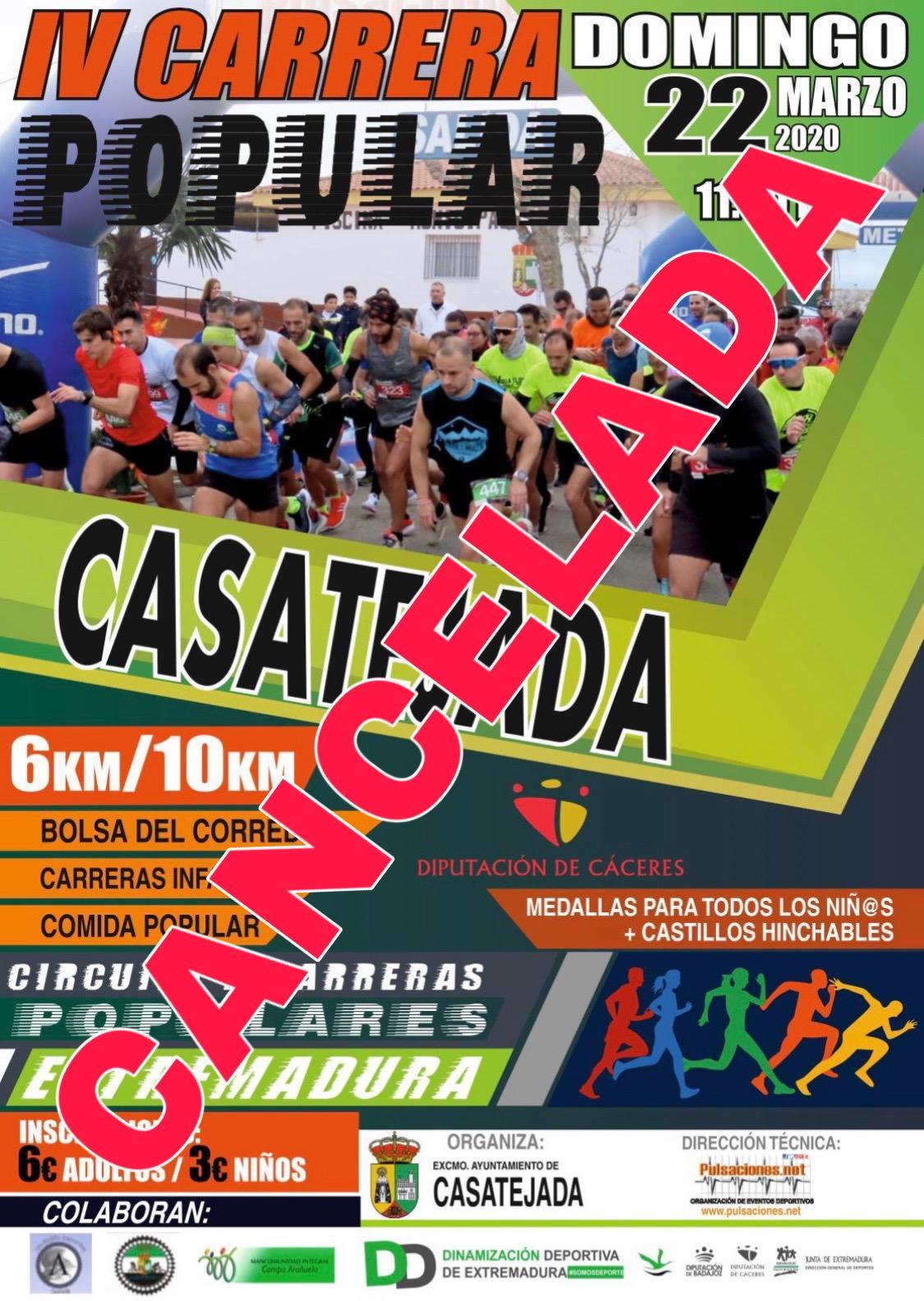 adiós angustia para  22-03-2020) IV Carrera Popular CASATEJADA 2020 - Pulsaciones.NET