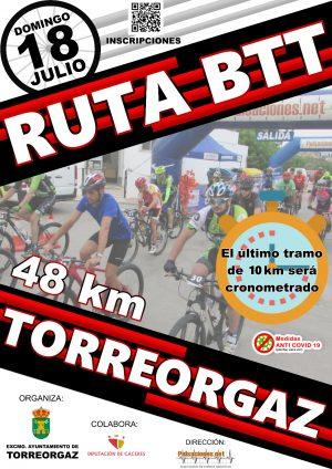 Cartel BTT Torreorgaz 10K crono